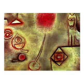 Klee -動物の小像が付いている静物画 ポストカード