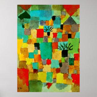 Klee -南チュニジアの庭1919 ポスター