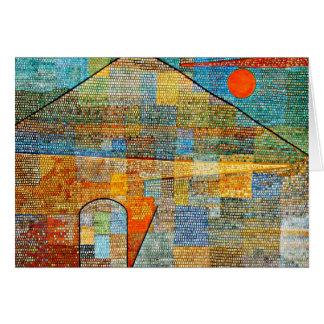 Klee -広告Parnassusのパウル・クレーの有名なアートワーク グリーティングカード
