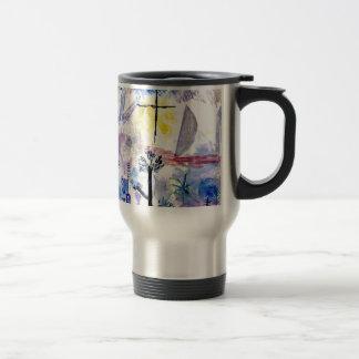 Klee -未完成の景色、パウル・クレーの絵画 トラベルマグ