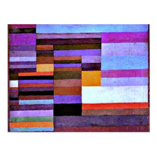Klee -火Evening 1929年 ポストカード