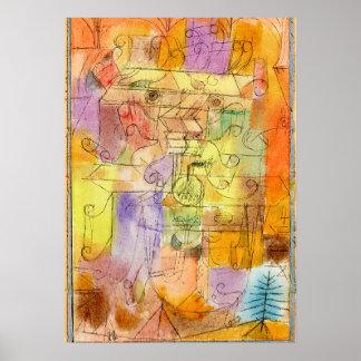 Klee -紺碧で組み立てられる未完成の景色 ポスター