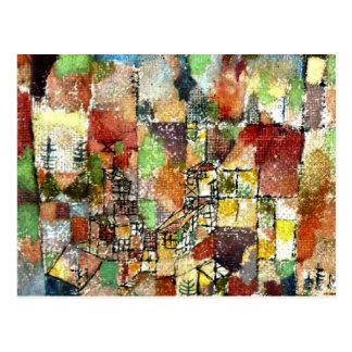 Klee - 2つの邸宅 ポストカード