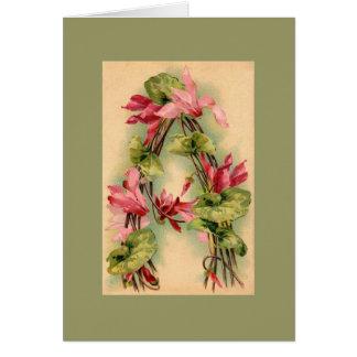 Kleinの花のアルファベットのメッセージカードDKGR カード