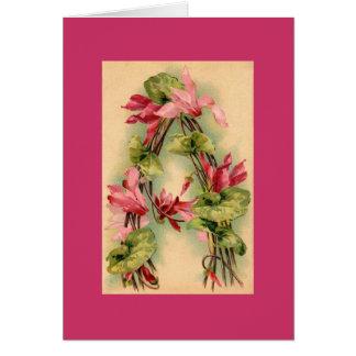 Kleinの花のアルファベットのメッセージカードMVE カード