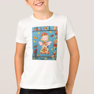 kleinのengelのTシャツ、blauwはbloemenに会いました Tシャツ