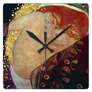 "Klimt "" Danae "" スクエア壁時計"