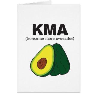 kma。 (konsumeより多くのアボカド) カード