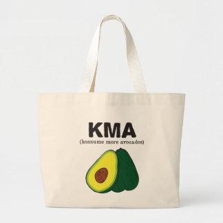 kma。 (konsumeより多くのアボカド) ラージトートバッグ