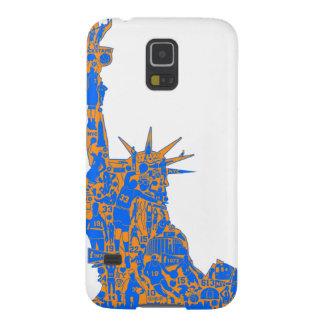 KnicksTapeの自由の彫像のSamsungの銀河系S5の箱 Galaxy S5 ケース