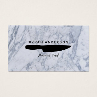 Knife Personal Chef Business Card 名刺