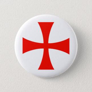 Knights_Templar_Cross 5.7cm 丸型バッジ