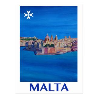 KnightsIIポスターマルタレトロバレッタの市 ポストカード