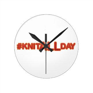 #KNITALLDAYの円形の時計 ラウンド壁時計