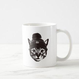 Knitcap cat コーヒーマグカップ