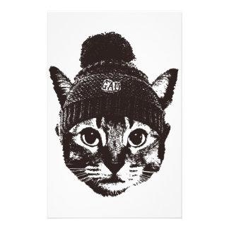 Knitcap cat 便箋