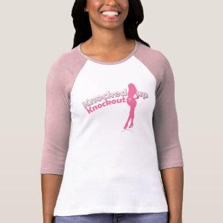 Knockoutベビーシャワーの妊婦の上でたたかれる Tシャツ