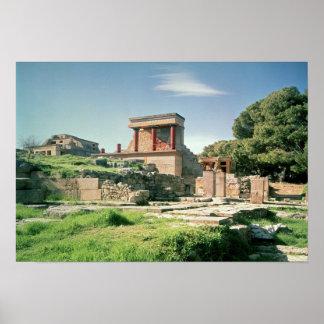 Knossosの宮殿の眺め ポスター