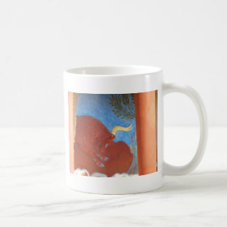 Knossosの赤BULLのMinoan宮殿 コーヒーマグカップ