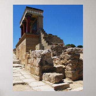 KnossosのMinoan宮殿 ポスター