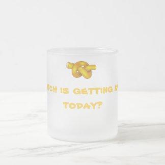 Knottyメッセージが付いている曇らされたマグ フロストグラスマグカップ