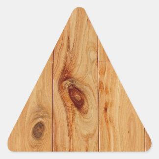 Knotty|ライト|木|穀物|床 三角形シール・ステッカー