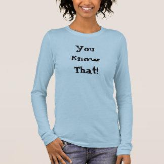 KnowThat! 長袖Tシャツ