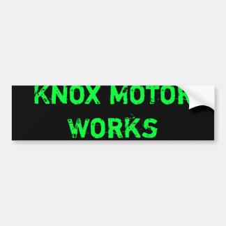 Knoxモーター仕事 バンパーステッカー