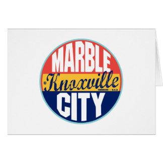 Knoxvilleのヴィンテージのラベル カード