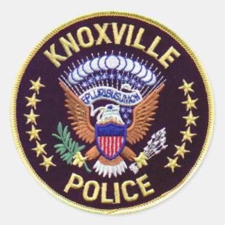 Knoxvilleの警察のステッカー ラウンドシール