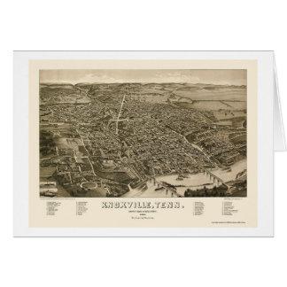 KnoxvilleのTNのパノラマ式の地図- 1886年 カード