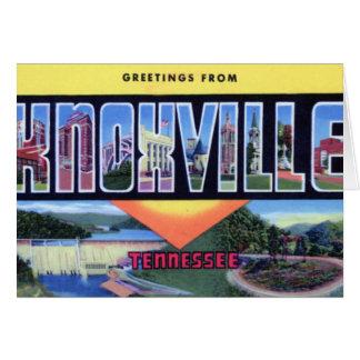 Knoxvilleテネシー州の大きい手紙の挨拶 カード