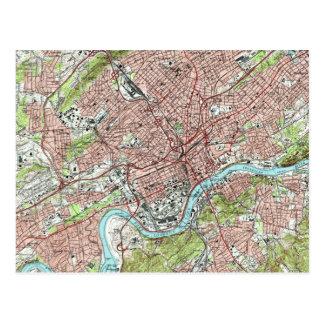 Knoxvilleテネシー州Map (1978年) ポストカード