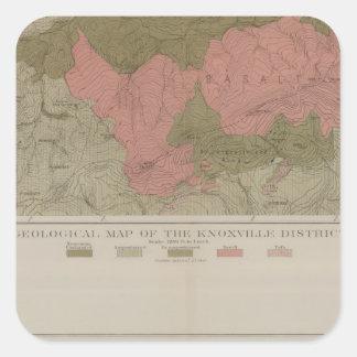 Knoxville地区の地質地図 スクエアシール