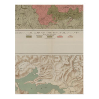 Knoxville地区の地質地図 ポストカード