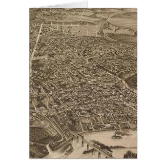 Knoxville (1886年)のヴィンテージの絵解き地図 カード