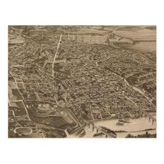 Knoxville (1886年)のヴィンテージの絵解き地図 ポストカード