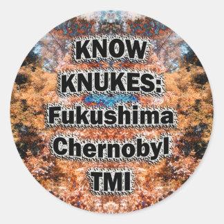 KNUKESのステッカーを知って下さい ラウンドシール