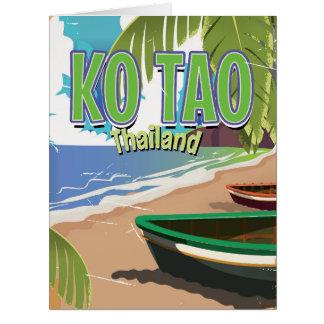 Koタオタイのヴィンテージ旅行ポスター カード