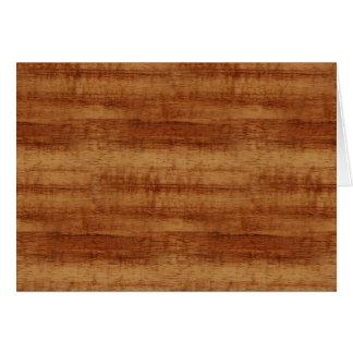 Koaの巻き毛のアカシアの木製の穀物の一見 カード