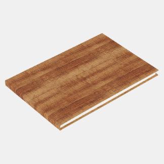 Koaの巻き毛のアカシアの木製の穀物の一見 ゲストブック