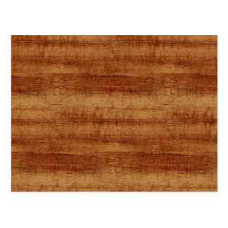 Koaの巻き毛のアカシアの木製の穀物の一見 ポストカード
