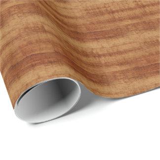 Koaの巻き毛のアカシアの木製の穀物の一見 ラッピングペーパー