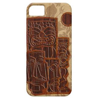 Koa木製のTiki日曜日のサーフボードのiPhone 5つのケース iPhone SE/5/5s ケース