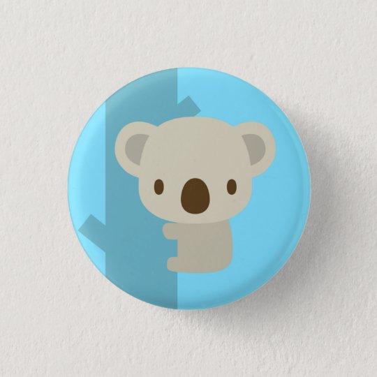 koala light blue : pins 3.2cm 丸型バッジ
