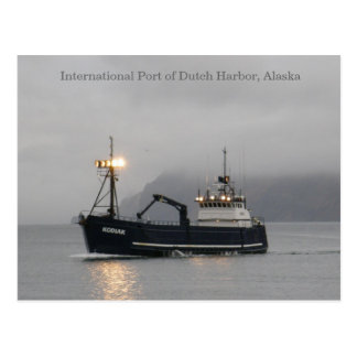 Kodiakのカニの漁船 ポストカード