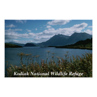 Kodiakの国民の野生生物の保護区 ポスター