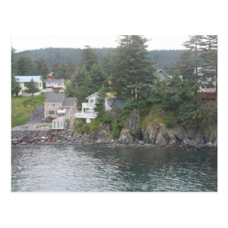 Kodiakの島の海岸の郵便はがき ポストカード