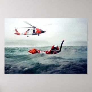 Kodiakの救助の泳ぐ人-沿岸警備隊 ポスター