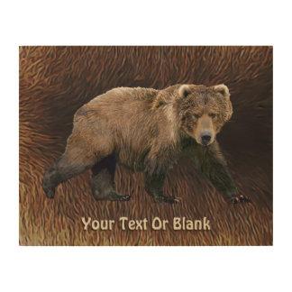 Kodiakはカリブーの毛皮に関係します ウッドウォールアート